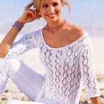 Ажурный пуловер для стильного лета