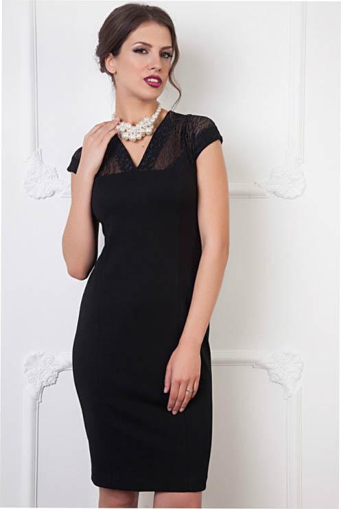 Черные платья на кокетке