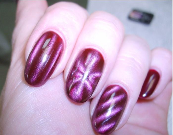 Магнитный лак для ногтей: маникюр с 3D эффектом