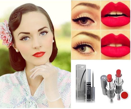 Правильный макияж с красными