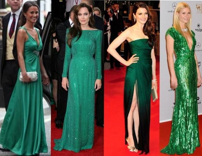 Как сделать стильный макияж под зеленое платье