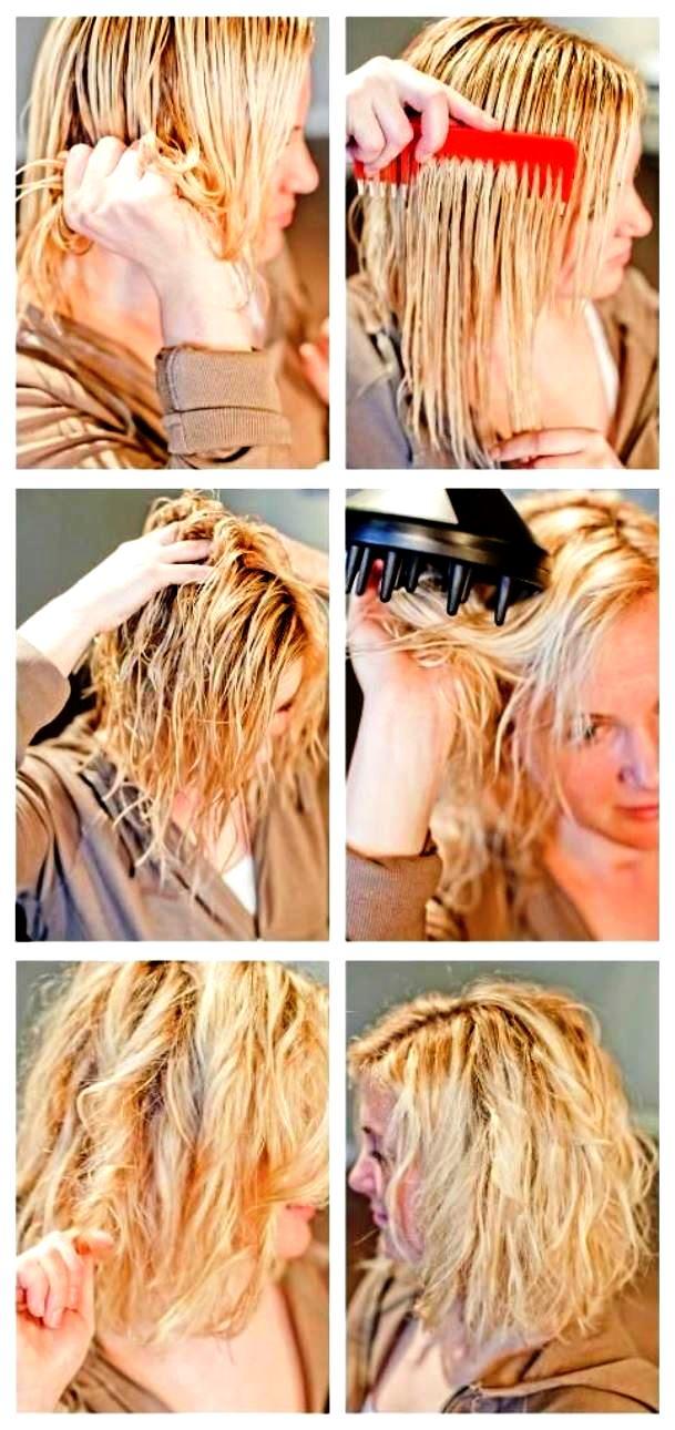 Укладка для волос с помощью диффузора