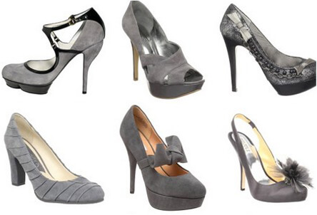 С чем надеть серые туфли