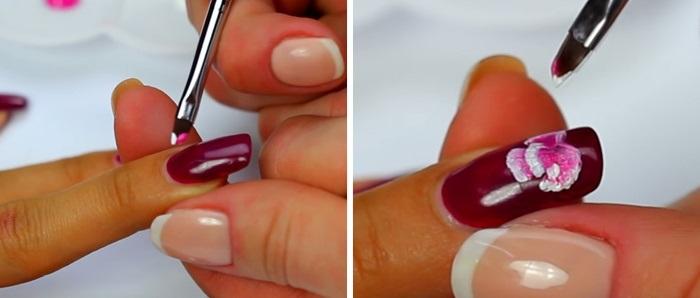 Как делать китайскую роспись ногтей