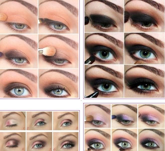 Как делать макияж большим глазами