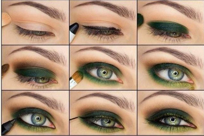 Макияж смоки для зеленых глаз фото пошагово в