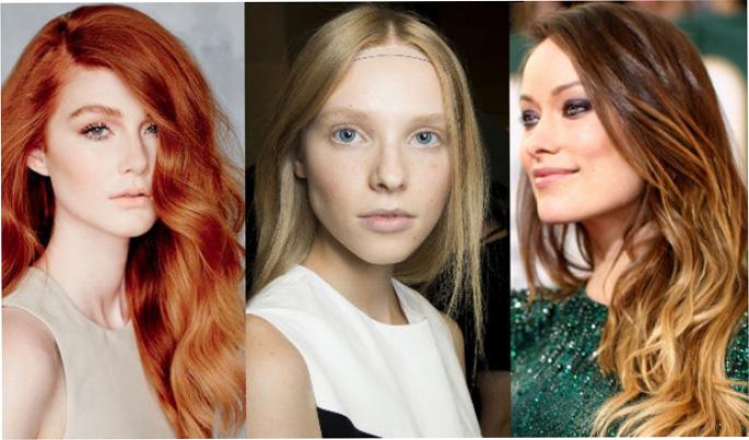 Модные оттенки волос осени 2015