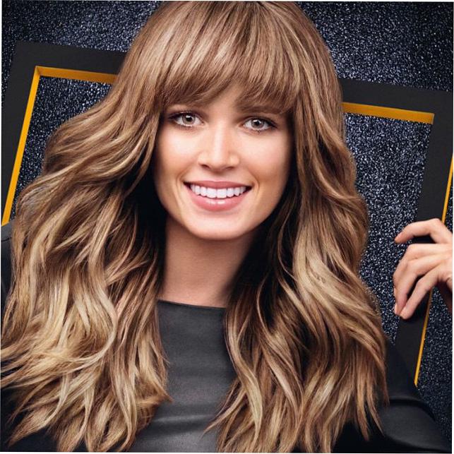Мелирование волос модный цвет 2017 на темные волосы с челкой