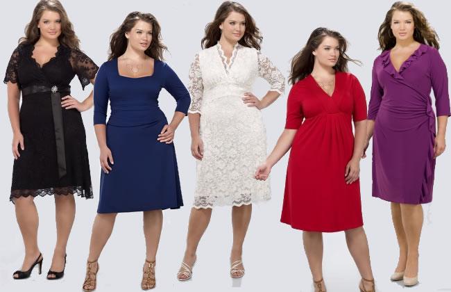 Осеннее платье для полных дам