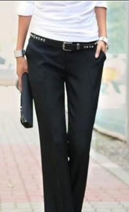 С чем носить брюки женские черные
