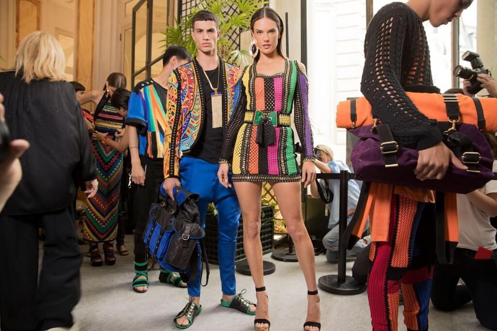 Модная коллекция весна-лето 2017 Balmain