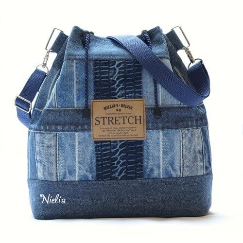 50a88405eac3 Идеи сумок из старых джинсов на лето. Как сшить сумку своими руками ...