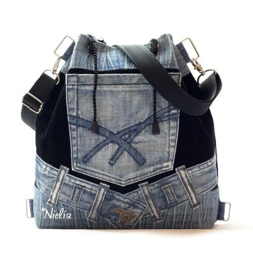 10f77efaf333 Идеи сумок из старых джинсов на лето. Идеи сумок из старых джинсов на лето. Как  сшить сумку своими ...