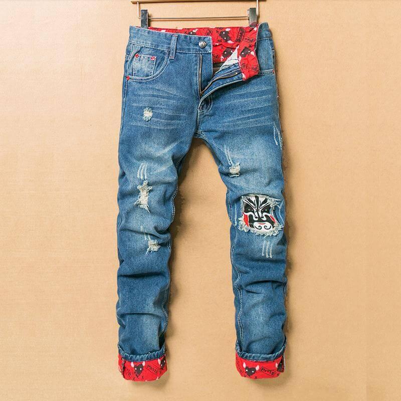 Модные узкие джинсы