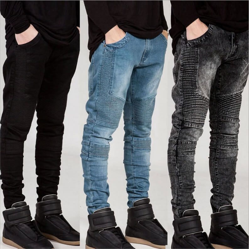 Модные рваные джинсы