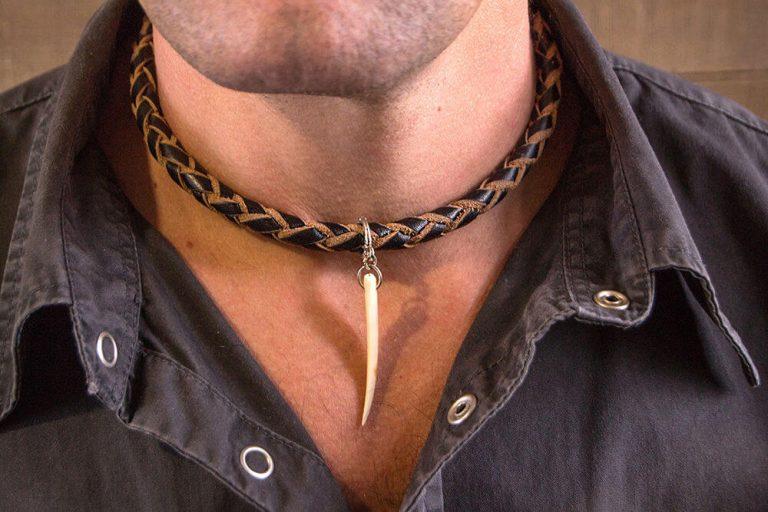 Мужские украшения шея кожа