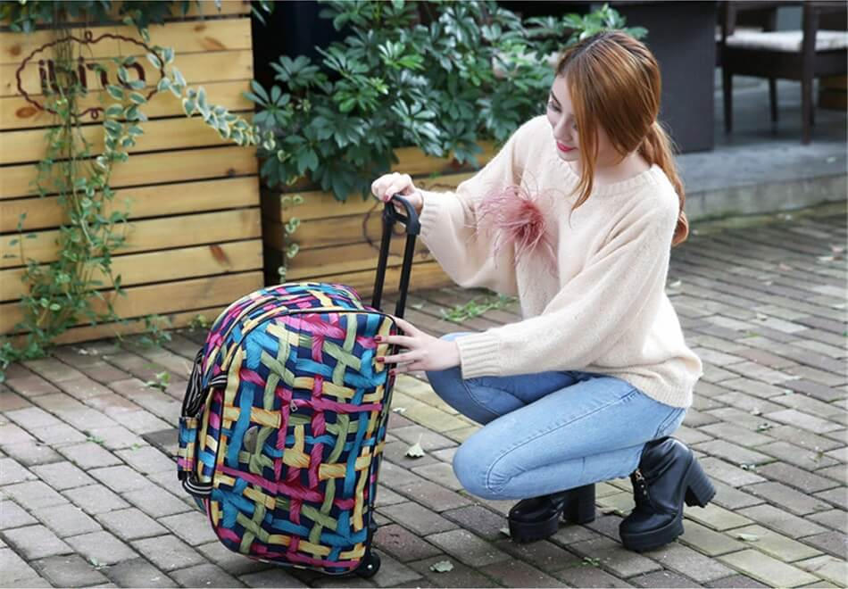 Дорожные сумки и чемоданы на колесах (фото) e48caa4e536