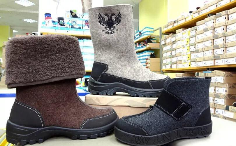 Мужские валенки – экологическая зимняя обувь (обзор)