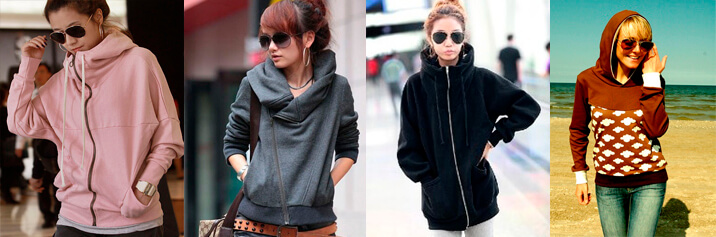 Модные женские толстовки