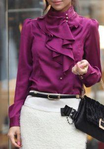 Как удачно сочетать блузку?