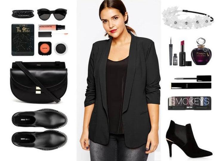С чем носить кофту черного цвета?