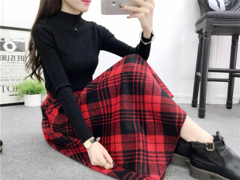 Черная кофта: с чем носить, красное с чёрным - это супер!