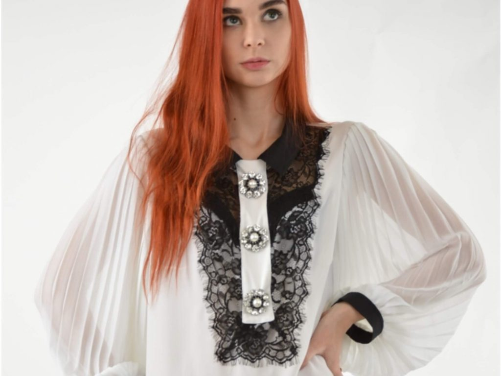 Красивые блузы из гипюра