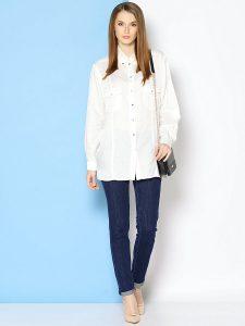 Вариации материала: блузы из искусственного и натурального шелка