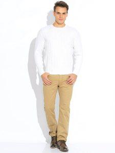 Мужская белая кофта