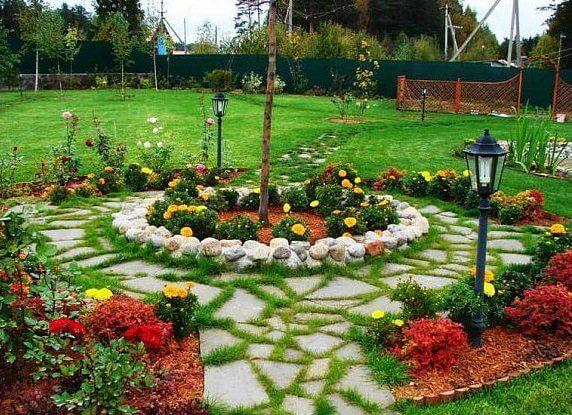 Красиво посадить цветы возле дома