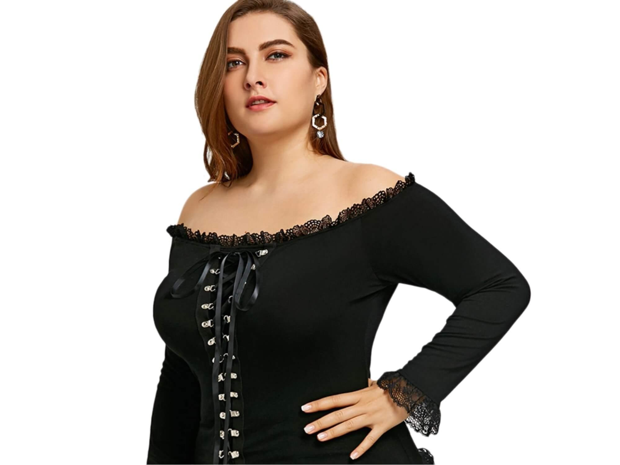 Кофта с открытыми плечами - мода 2018 года